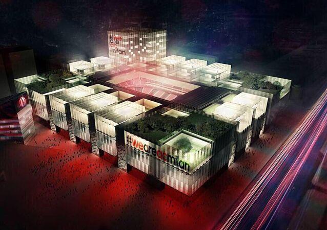Projeto do estádio do Milan para 48 mil torcedores
