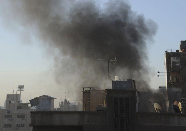 Damasco após bombardeio