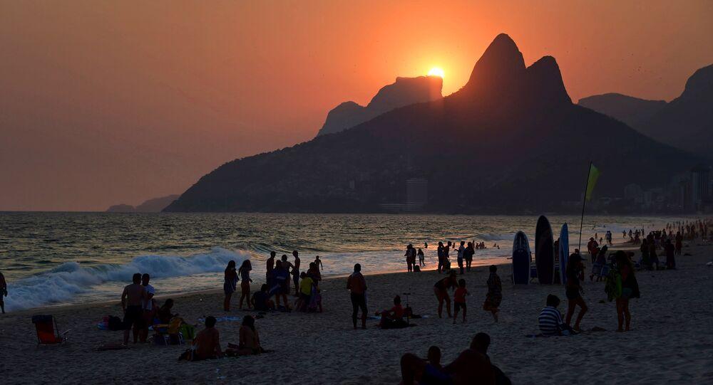 Pôr do sol em Ipanema