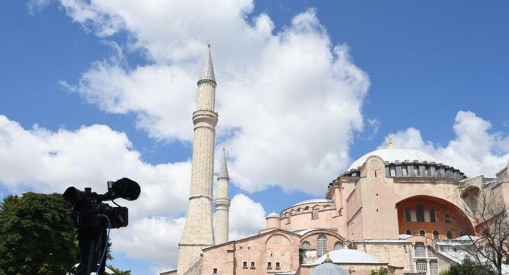 Hagia Sophia, também conhecida como Basílica de Santa Sofia, em Istambul