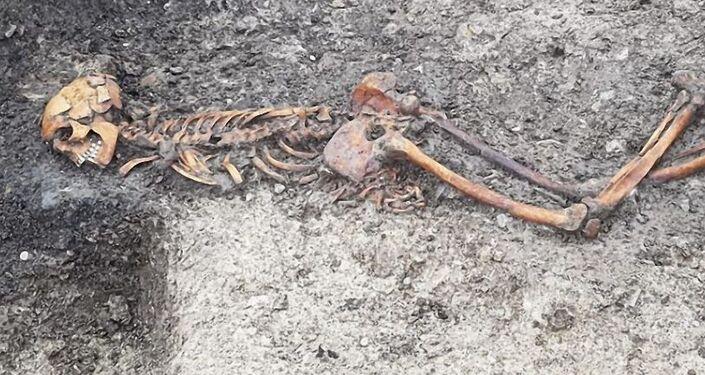 Esqueleto de suposta vítima de assassinato