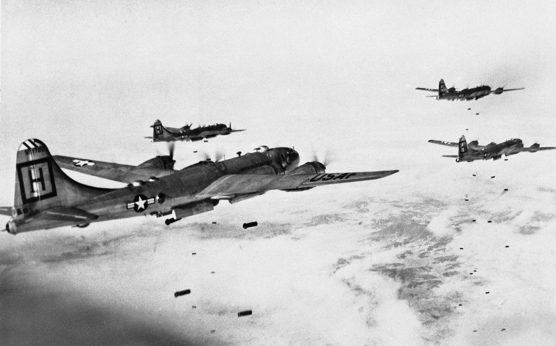 Bombardeiros norte-americanos B-29 Superfortress (foto de arquivo)