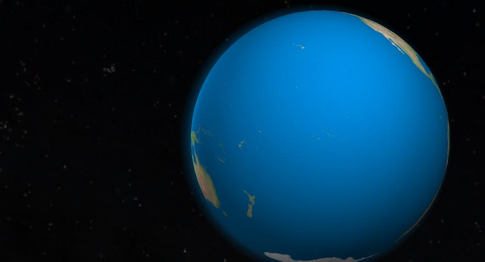 Representação do oceano Pacífico
