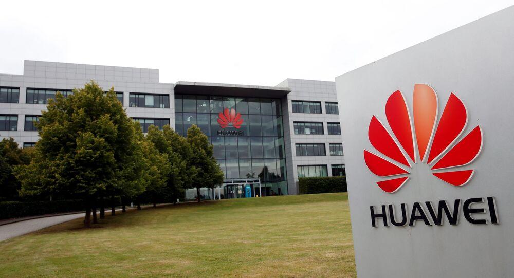 Sede da Huawei em Reading, Reino Unido, 14 de julho de 2020