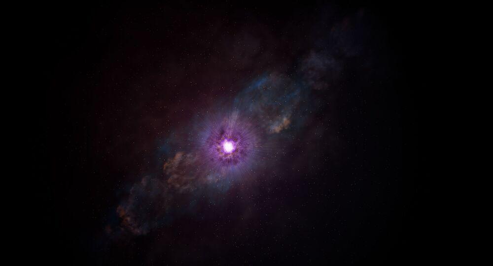 Imagem artística de explosão no espaço