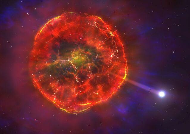 Representação artística da anã branca SDSS J1240 + 6710