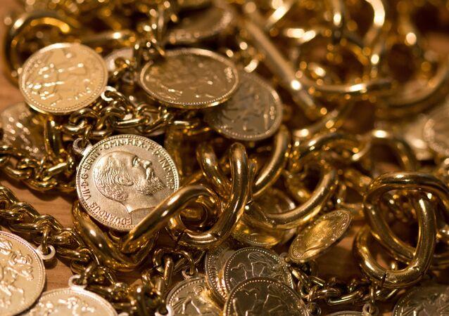 Foto de moedas de ouro