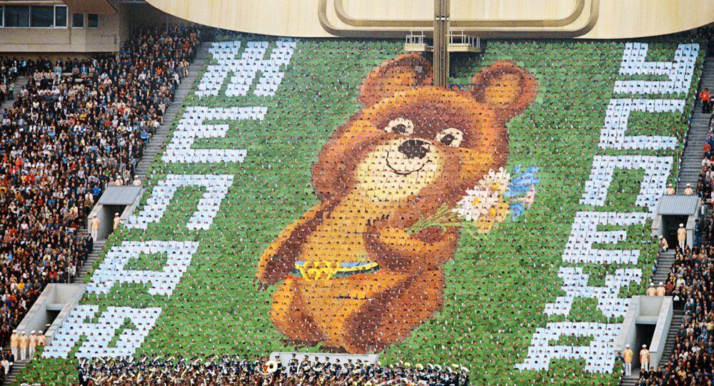 Misha, mascote dos Jogos Olímpicos de Moscou de 1980