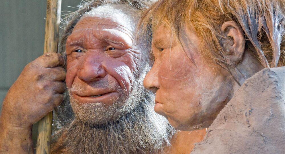 Reconstrução do homem neandertal (foto de arquivo)