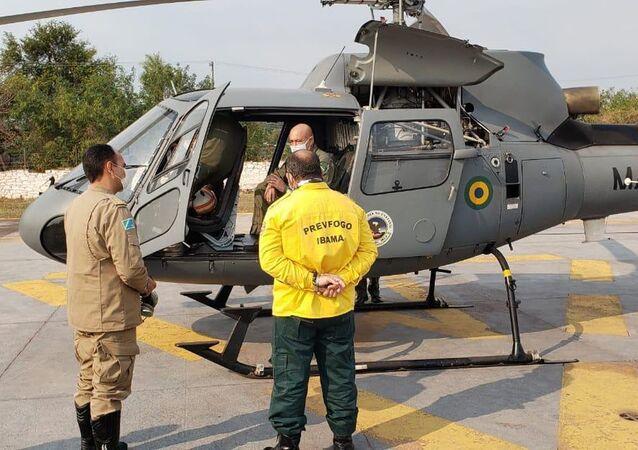 Aeronaves do Ibama e das Forças Armadas são enviadas para Mato Grosso do Sul para ajudar no combate aos incêndios no Pantanal