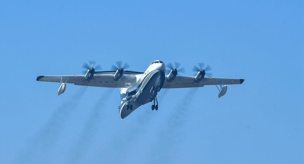 Avião anfíbio AG600 desenvolvido pela China