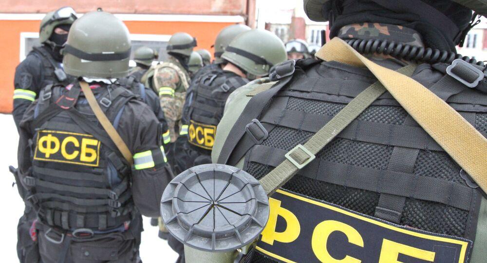Membros da força de operações especiais do Serviço Federal de Segurança da Rússia.