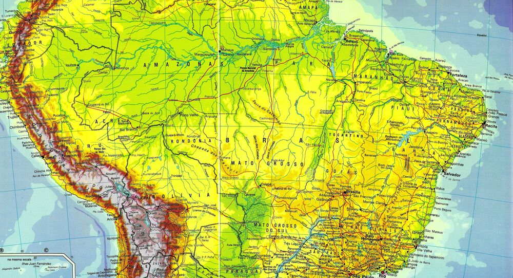 Mapa da América do Sul