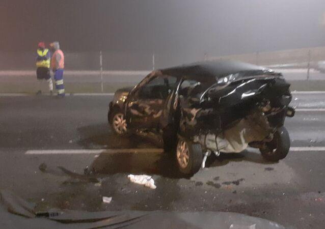 Acidente com mais de vinte veículos deixou ao menos sete mortos e 27 feridos na BR-277, na região de São José dos Pinhais, no Paraná, 2 de agosto de 2020