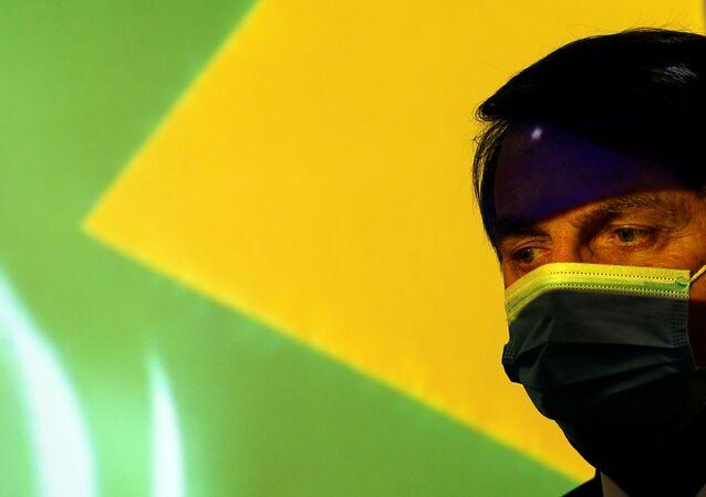 Presidente Jair Bolsonaro durante cerimônia de inauguração do programa Mais Luz para a Amazônia, em Brasília, 5 de agosto de 2020