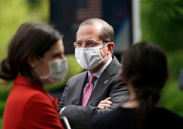 Secretário de Saúde dos EUA, Alex Azar, em Washington.