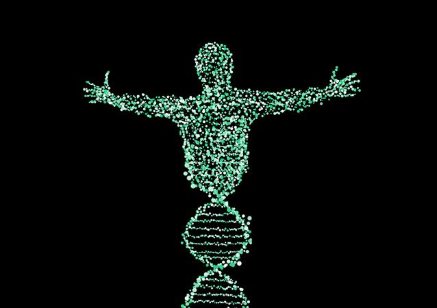 Representação artística de cromossomo de homem