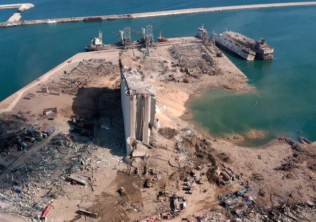 Danos dois dias após explosão na área portuária de Beirute, Líbano, em 6 de agosto de 2020