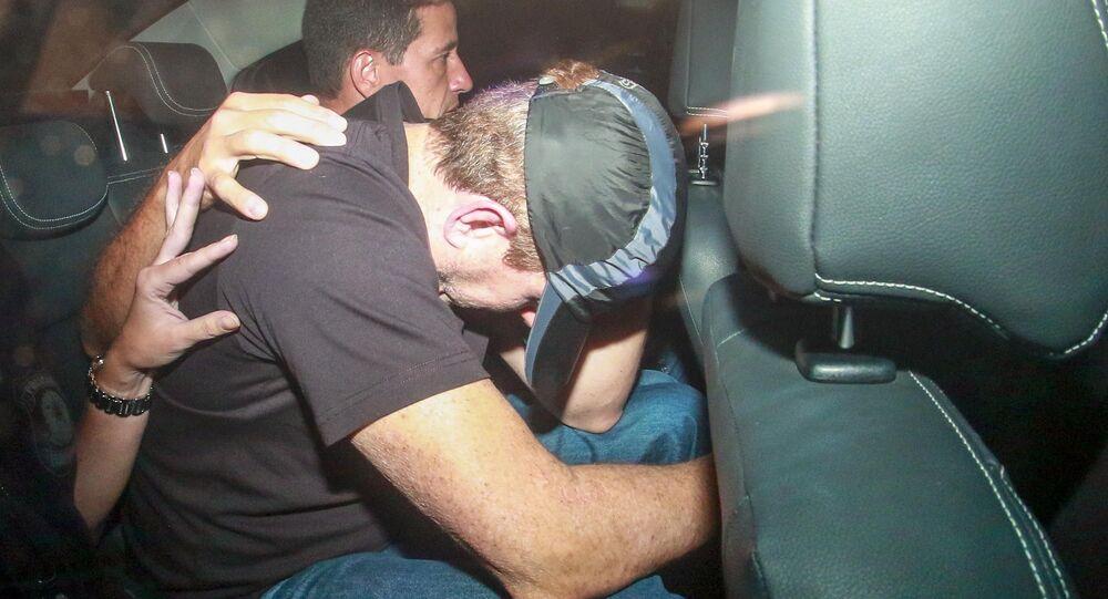 Em São Paulo, o doleiro Dario Messer é preso durante a Operação Câmbio, Desligo, da Polícia Federal, em um apartamento no bairro dos Jardins, em 31 de julho de 2019.