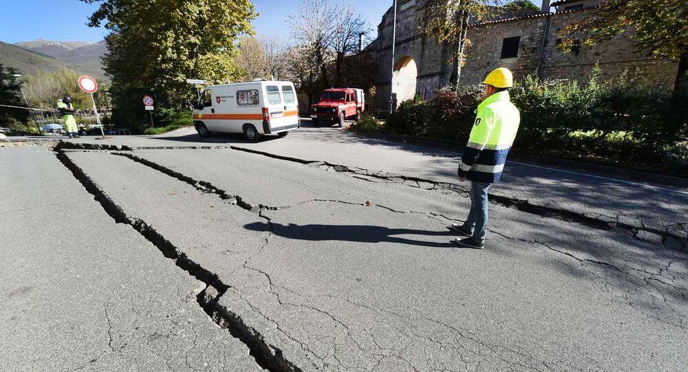 Foto de impacto de terremoto