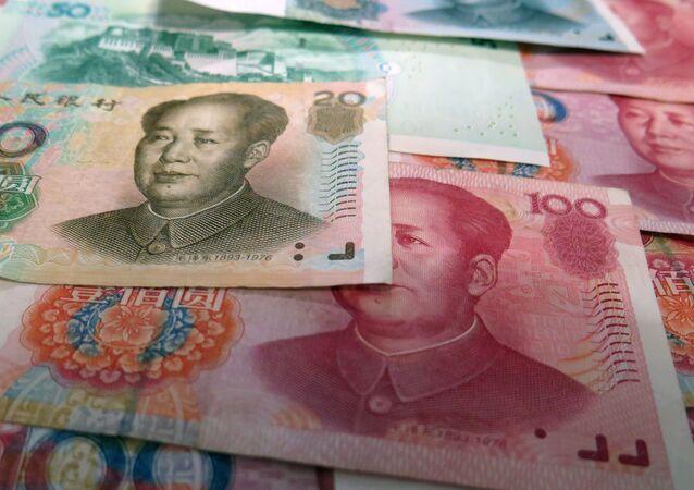 Notas de yuan (imagem referencial)