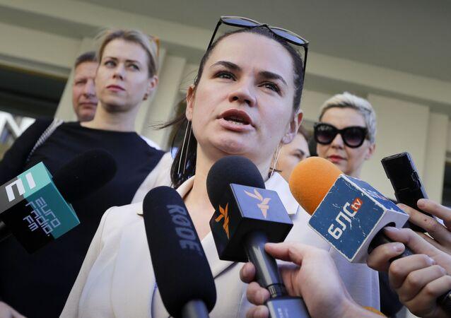 Svetlana Tikhanovskaya, candidata à presidência da Bielorrússia