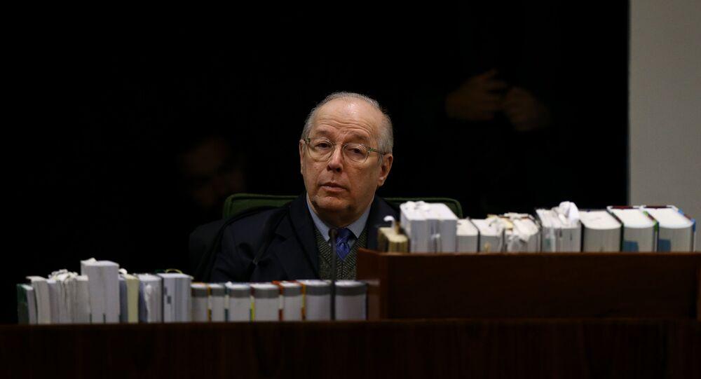 Ministro Celso de Mello, durante julgamento da 2º turma do STF (Supremo Tribunal Federal), que julga a possível soltura do ex-presidente Lula (PT) em Brasília (DF)