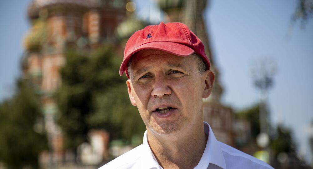 Ex-candidato presidencial bielorrusso Valery Tsepkalo em Moscou