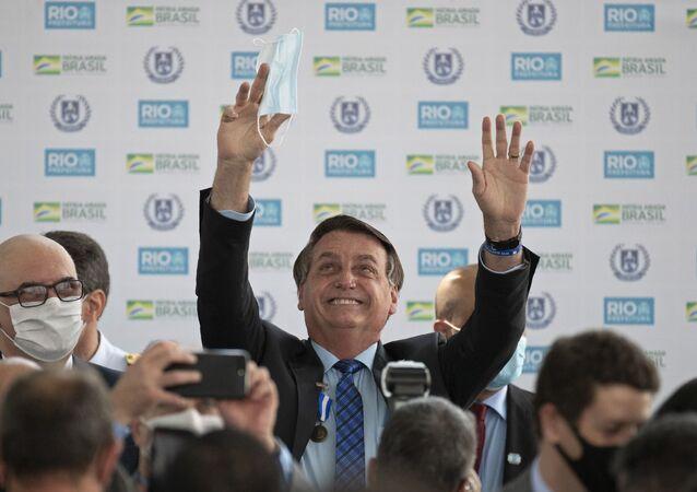 O presidente do Brasil, Jair Bolsonaro, em evento no Rio de Janeiro.