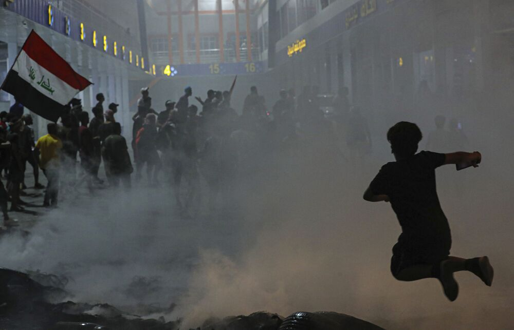 Protestos contra o governo no Iraque