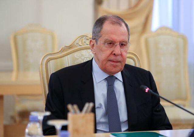 Ministro das Relações Exteriores russo Sergei Lavrov participa de reunião com o homólogo alemão Heiko Maas em Moscou, Rússia, 11 de agosto de 2020