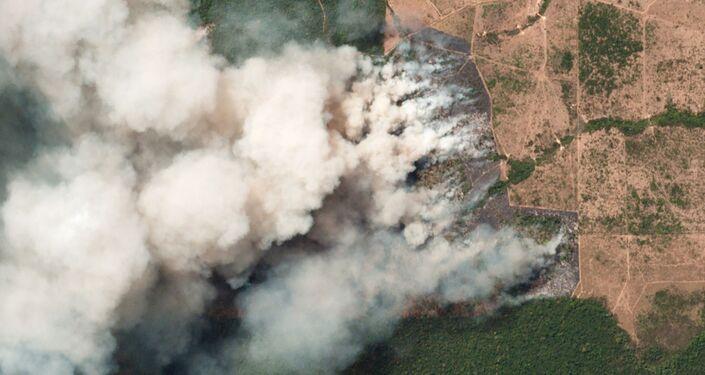 Imagem de satélite mostram incêndios que atingiram a Amazônia