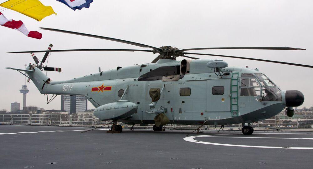 Helicóptero Z-8J da Marinha chinesa