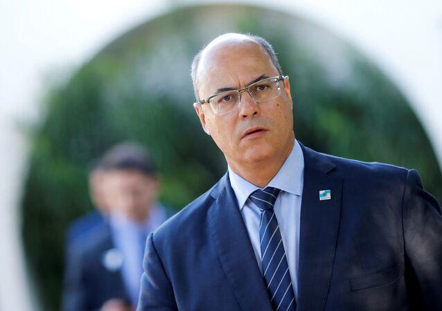 O governador do estado do Rio de Janeiro Wilson Witzel.