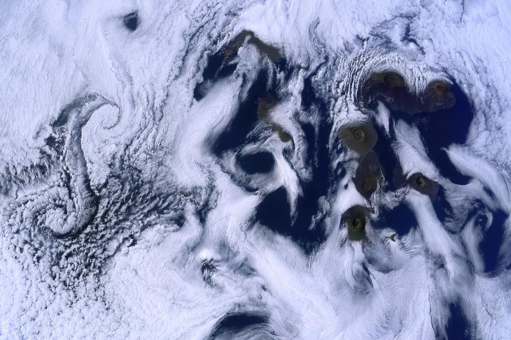 Ilhas Galápagos vistas a partir da Estação Espacial Internacional