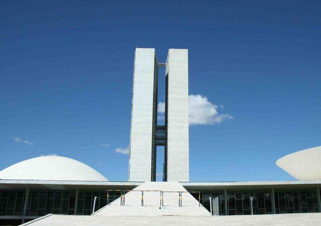 Fachada do Congresso Nacional, em Brasília, DF.