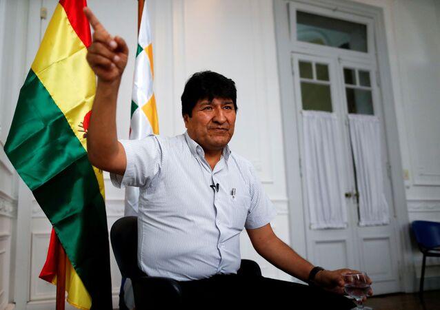 Ex-presidente da Bolívia Evo Morales no exílio em Buenos Aires