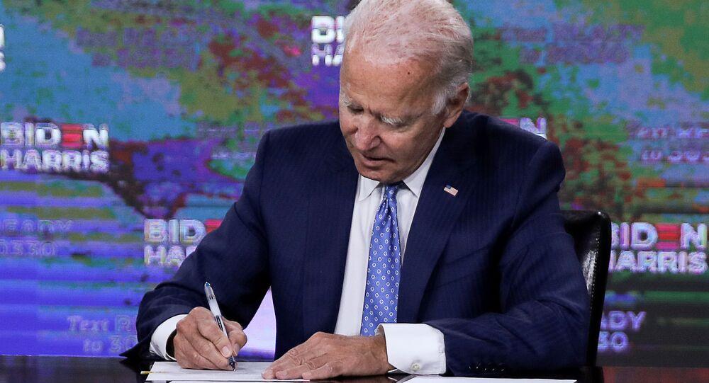 Joe Biden em Wilmington, Delaware. Foto de agosto de 2020.