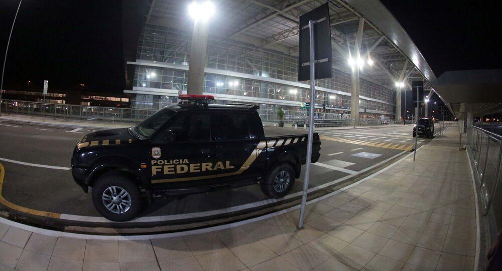 Homens armados fizeram um roubo no terminal de cargas do aeroporto de Viracopos, em Campinas (SP).