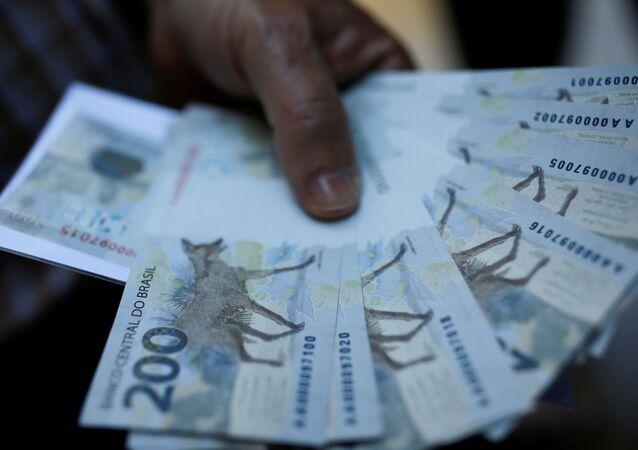 Novas cédulas de 200 reais emitidas pelo Banco Central do Brasil