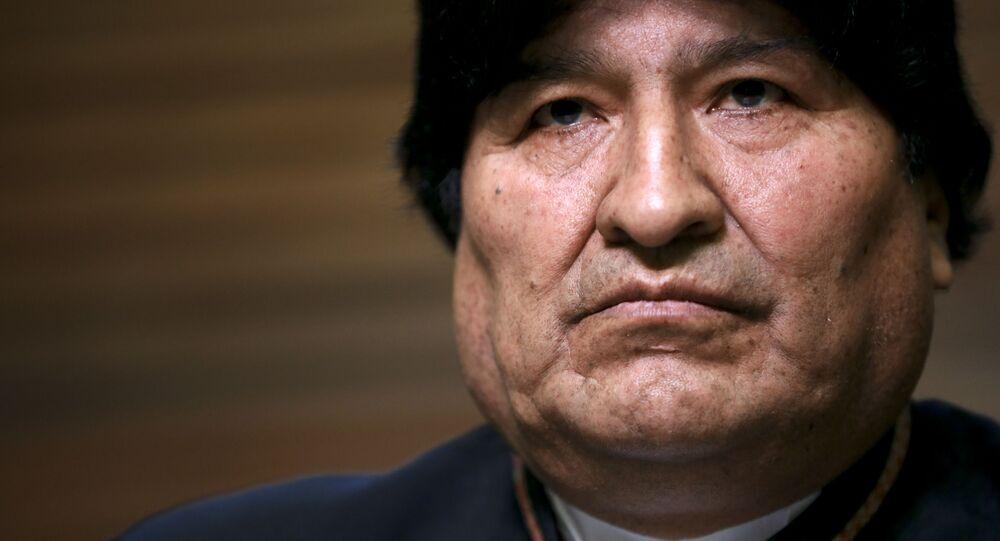 Evo Morales, ex-presidente da Bolívia.