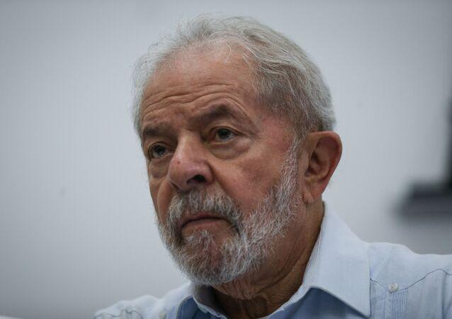 O ex-presidente Lula durante reunião do diretório nacional do PT (Partido dos Trabalhadores), em São Paulo (foto de arquivo)