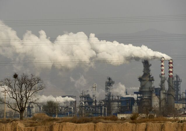 Gases de efeito estufa: indústria na China