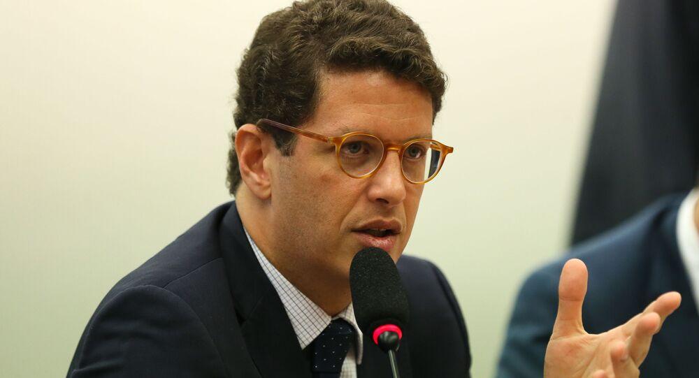 Ministro do Meio Ambiente, Ricardo Salles, participa de audiência pública, na Comissão de Agricultura. Pecuária, Abastecimento e Desenvolvimento Rural da Câmara dos Deputados, Brasília, 27 de novembro de 2019