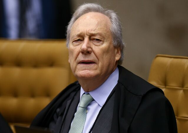 Ministro Ricardo Lewandowski durante sessão no plenário do STF (Supremo Tribunal Federal)