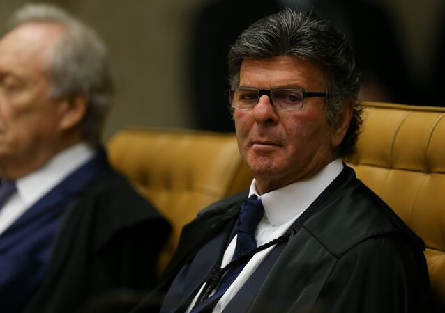 O ministro Luiz Fux. Sessão solene de Abertura dos Trabalhos do Judiciário no STF (Supremo Tribunal Federal).