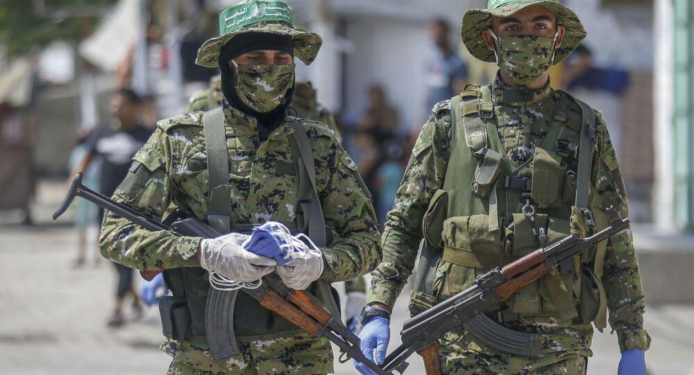 Membros do movimento palestino Hamas (foto de arquivo)