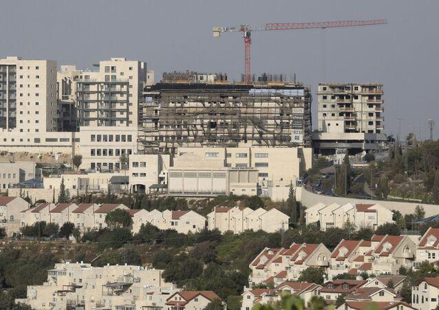 Construção do assentamento israelense de Efrat, na Cisjordânia (foto de arquivo)