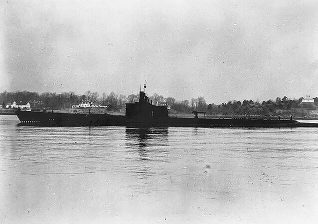 Foto registrada em 27 de dezembro de 1941 mostra submarino USS Grenadier da Marinha do EUA