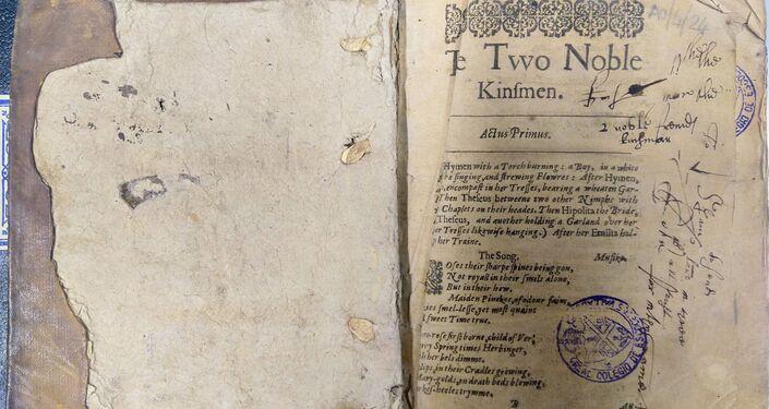 Obra de William Shakespeare Os Dois Nobres Parentes descoberta em Salamanca